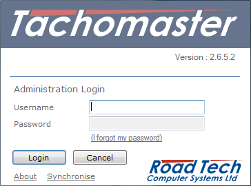 Tachomaster Client - Log In