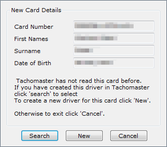 Tachomaster Client - New Card