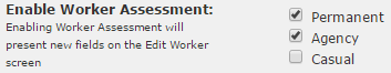 Company Settings - Worker Assessment