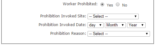 Worker Prohibition